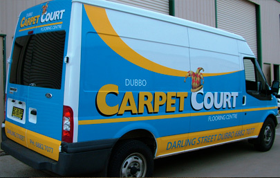 Carpet Court - Company Vehicle; Design and Apply Vinyl Graphics